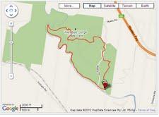 Werribee Gorge - Circuit Walk map