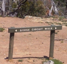 Werribee Gorge Circuit Walk sign