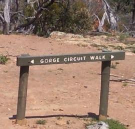 Werribee Gorge Circuit Walk sign