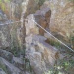 Werribee Gorge Circuit - Metal ropes to help you negotiate a tricky section of rock climbing