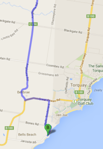 Getting to Bells Beach via the Geelong bypass