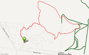 Map of the Big Rock and Branding Yard Circuit hike