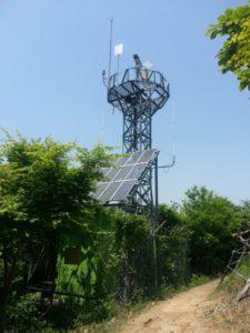 Bushfire alert tower in Korea