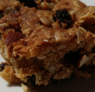 Muesli slice recipe for hiking