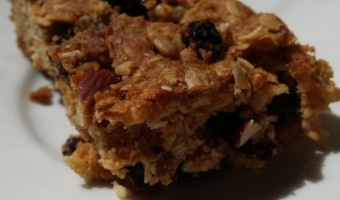 Muesli slice recipe for hiking