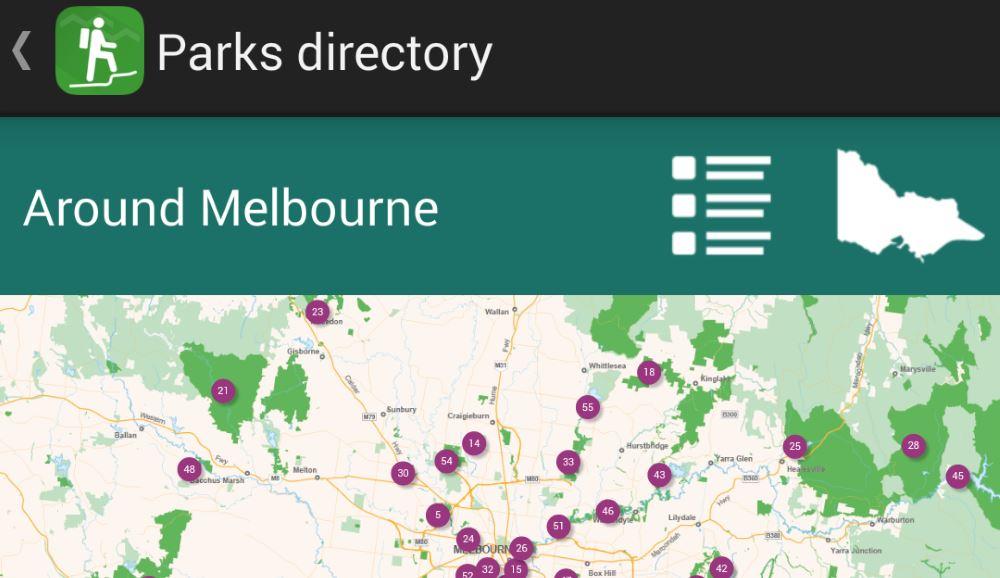 Parks Victoria App Maps