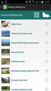 Parks Victoria App - parks