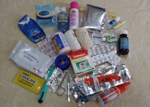 My first aid kit for hiking