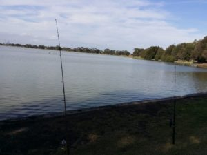 Fishing at Cherry Lake Altona