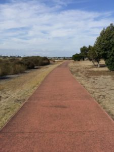 The sealed path around Cherry Lake Altona