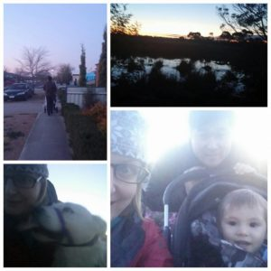 The hiking family during the 30 Day Walking Challenge