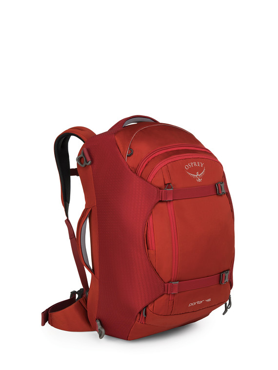 The Osprey Porter 46 in Red