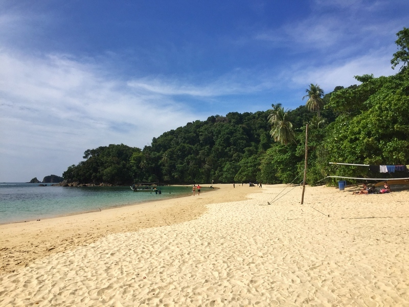 Beautiful beaches round Kapas Island Malaysia