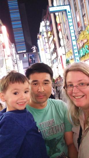 Us at Shinjuku Tokyo Japan