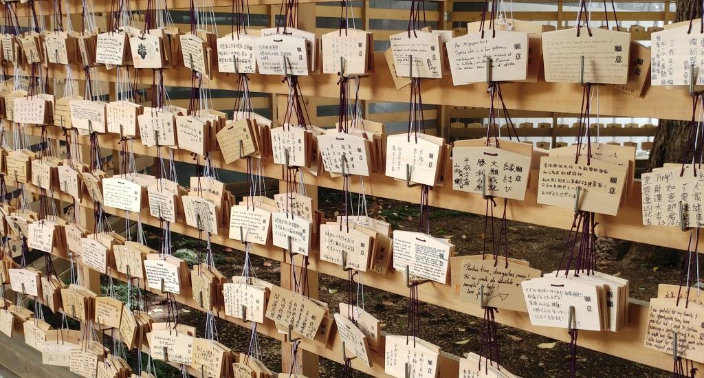 Wishes at Meiji Shrine, Tokyo