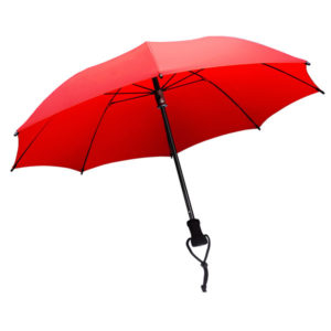 Hiking with an umbrella