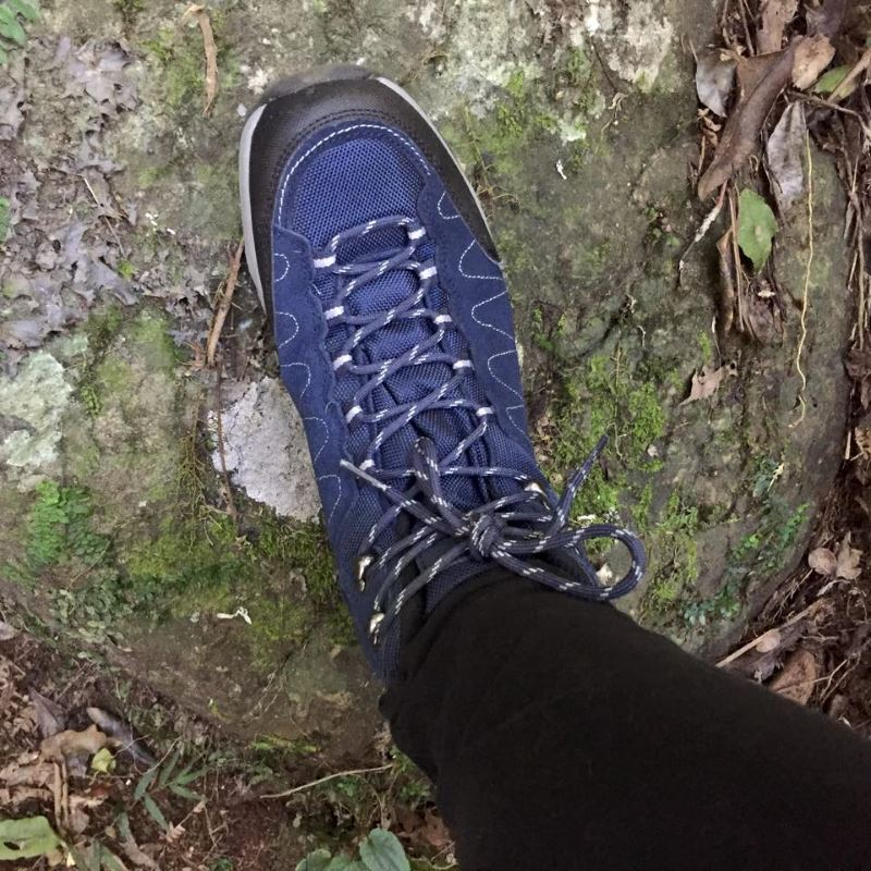 A hiking boot ready to hike the Gold Coast Hinterland Great Walk
