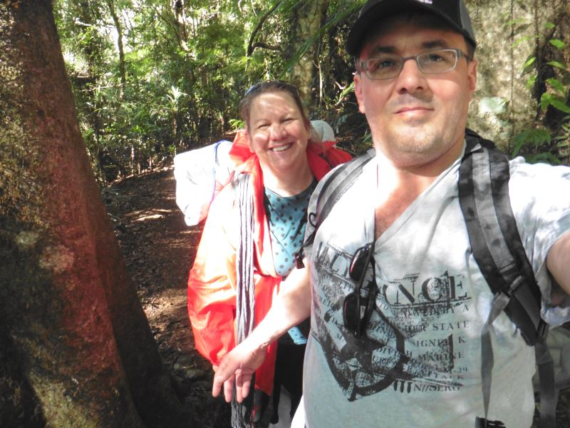 Janet and her husband on the Gold Coast Hinterland Great Walk