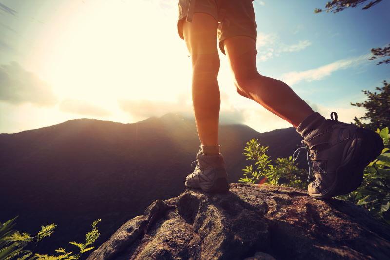 Toned hiker legs