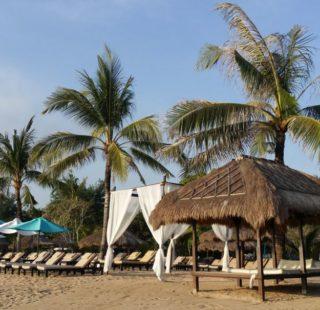 The immaculate beach along the waterfront, Nusa Dua, Bali