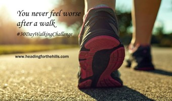 You never feel worse after a walk