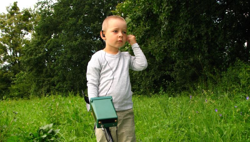 Metal detecting with children